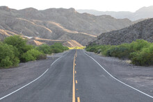 View Of Road Passing Through Big Bend Ranch State Park