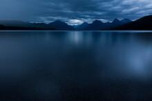 Scenic View Of Lake McDonald At Dawn