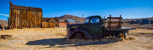 View Of Truck Parked In Abandoned Ghost Town
