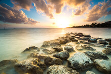 Scenic View Of Smathers Beach, Key West, Florida