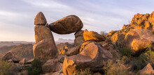 Sunrise Over Balanced Rock In Big Bend National Park