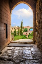 Historic City Of Byblos Viewed From Gate Entrance Of Crusader's Castle