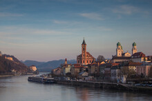 View Of Passau City During Sun...
