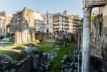 Sprawl Of Ruins At Roman Forum In Rome, Italy
