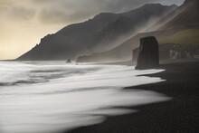 View Of Basalt Sea Stacks On B...