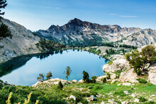 Scenic View Of Liberty Lake From The Ruby Crest National Recreation Trail