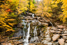 View Of Waterfall In Hudson Valley
