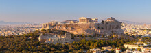 View Of City And Acropolis Of Athens
