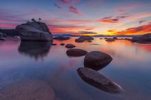 Bonsai Rock In Lake Tahoe Duri...