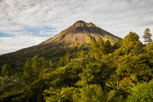 Scenic View Of Arenal Volcano In Arenal Volcano National Park