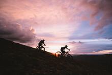 Silhouette Of Women Mountain B...