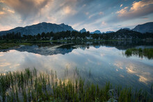Reflection Of Wind River Range In Skull Lake