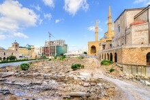Saint George Maronite Cathedral And Mohammad Al Amin Mosque In Historic Center Of Beirut, Lebanon