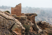 View Of Broken Brick Wall On R...