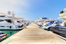 View Of Yachts Moored At Dock