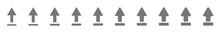 Upload Arrow Icon Gray Silver ...