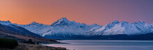 Scenic View Lake Pukaki With M...
