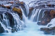 Scenic View Of Bruarfoss Waterfall