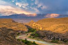 Rio Grande River And Sierra De...
