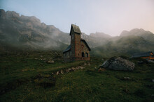 View Of Chapel In Meglisalp Va...