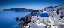 View Of Oia Village On Island ...