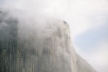 Low Angle View Of El Capitan In Yosemite National Park