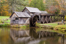 Scenic View Of Mabry Mill In Autumn