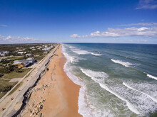 Aerial View Of Beach Against C...