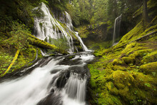 Panther Creek Falls In Columbia River Gorge