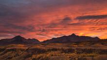 Scenic View Of Wilson Peak Dur...