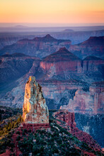 View Of North Rim Canyon During Sunrise