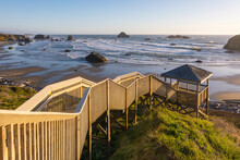 Stairway Leading Down To Bandon Beach