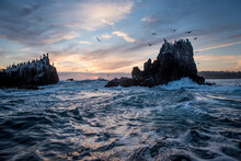 View Of Rock Formations In Sea...