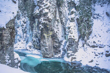 Scenic View Of Othello Tunnels In Winter