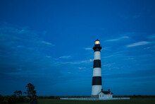 View Of Bodie Island Lighthouse At Night
