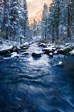View Of Bishop Creek In Sierra Nevada Mountain During Winter