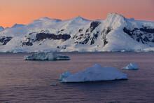 Scenic View Of Gerlache Strait...