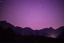 Scenic View Of Stars Illuminat...