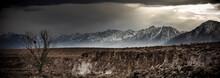View Of Winter Storm In Owen Valley