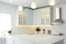 Elegant Interior Of New Kitche...