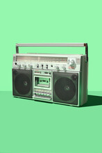 Retro Vintage 80's Boom Box Ca...
