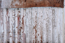 Weathered And Old Corrugated R...
