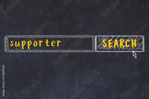 Search engine concept Canvas Print