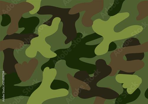 Camouflage seamless pattern Wallpaper Mural