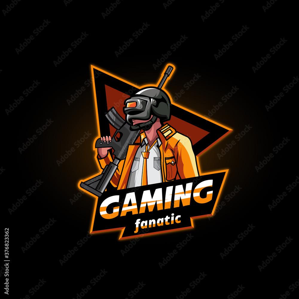 Fototapeta Man and gun for pubg team