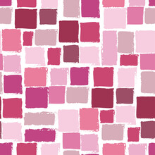 Squares With Ragged Edges In Different Shades Of Pink Make Up A Seamless Pattern