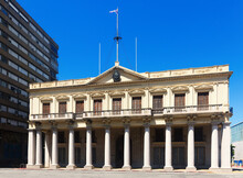 Museum Government House (Museo De La Casa De Gobierno) At Independence Square In Central Part Of Montevideo In Uruguay