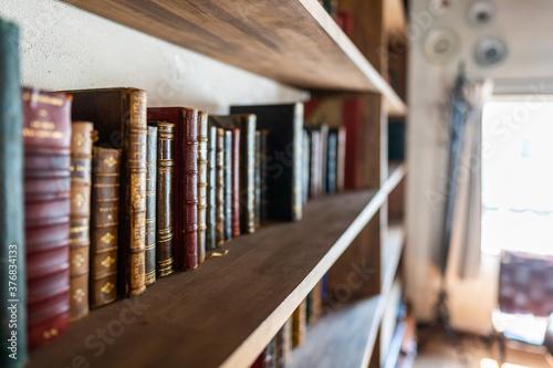 本の並んだ本棚 図書館 Canvas Print