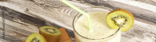 Foto Kiwi Cocktail in einem Glas