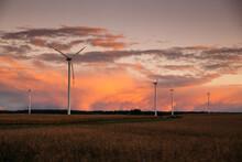 Sunset Over Windmills. Innovat...